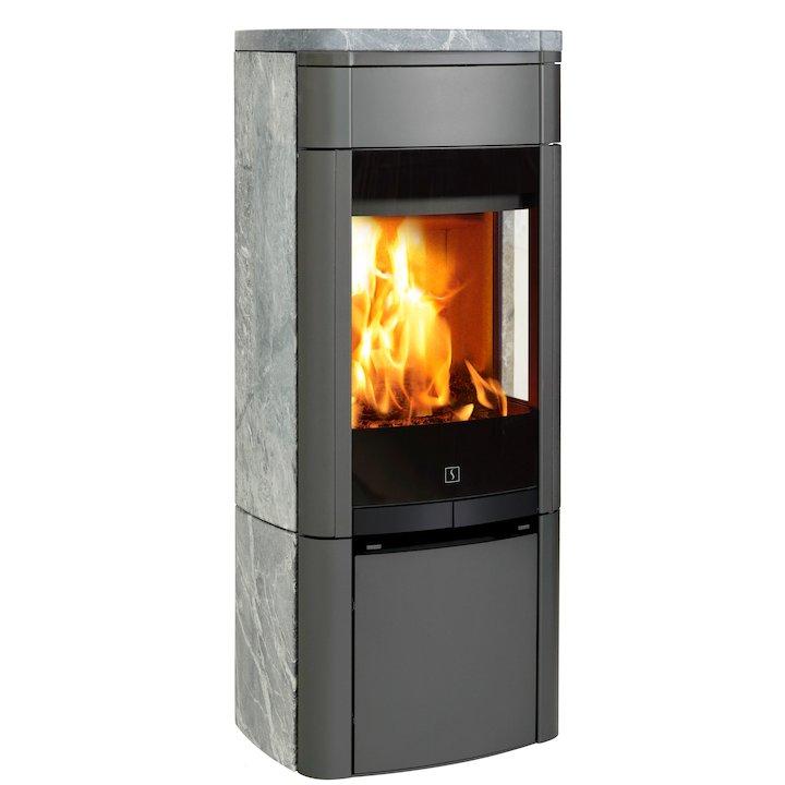 Scan 65 Wood Stove Grey/Soapstone Side Glass Windows - Grey / Soapstone