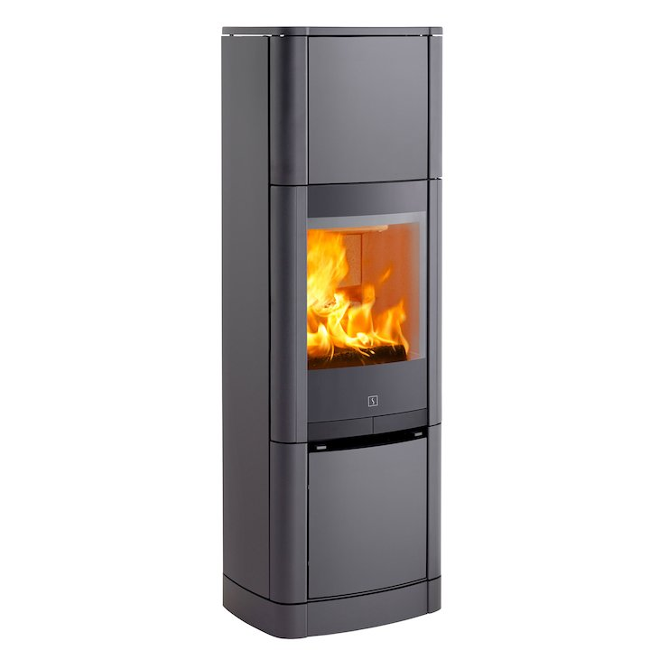 Scan 65 High Top Wood Stove Grey Solid Sides - Grey