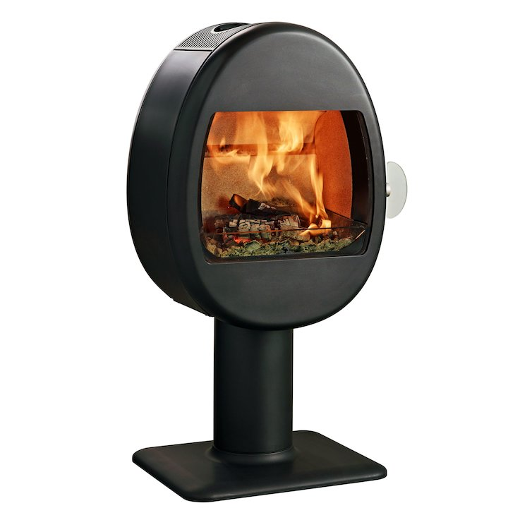 Scan 66-2 Pedestal Wood Stove - Black