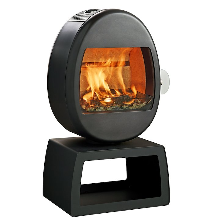 Scan 66-4 Plinth Wood Stove - Black