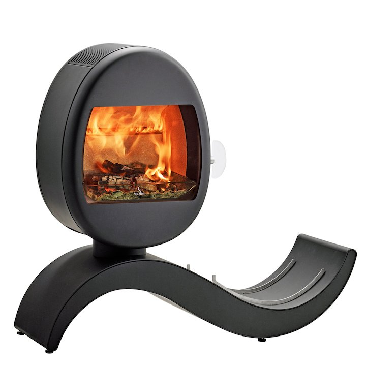 Scan 66-5 Logstore Wood Stove - Black