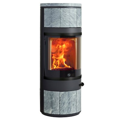 Scan 83 Wood Stove Black/Soapstone Black Trim