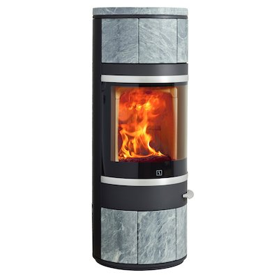 Scan 83 Wood Stove Black/Soapstone Silver Trim