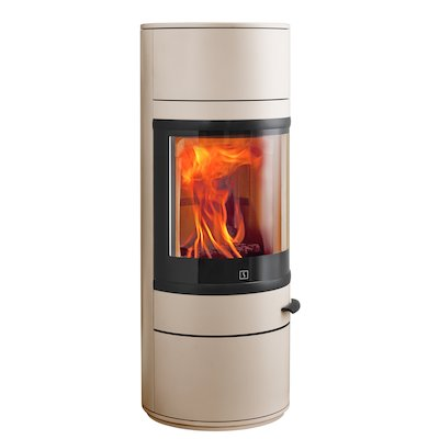 Scan 83 Wood Stove Champagne Black Trim
