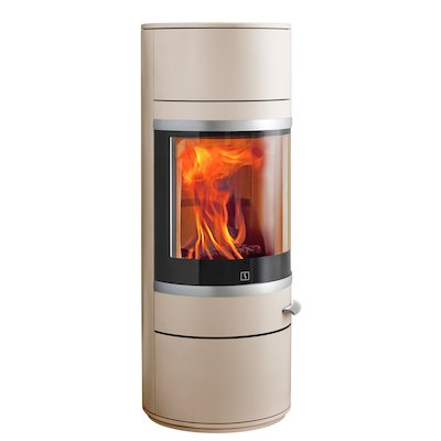 Scan 83 Wood Stove Champagne Silver Trim
