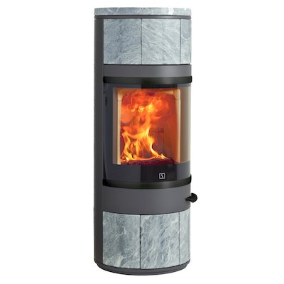 Scan 83 Wood Stove Grey/Soapstone Black Trim