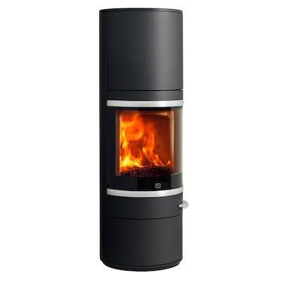 Scan 83 Maxi Wood Stove Black Silver Trim