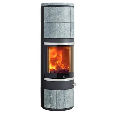 Scan 83 Maxi Wood Stove Black/Soapstone Silver Trim