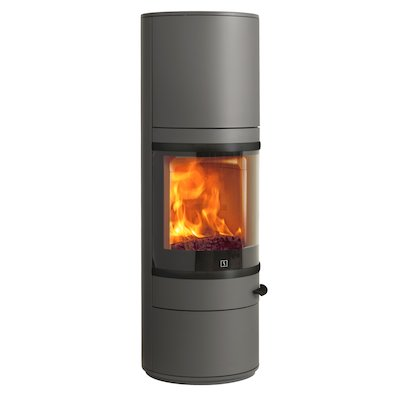 Scan 83 Maxi Wood Stove Grey Black Trim