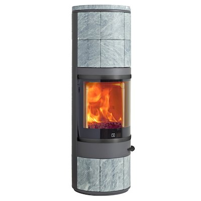 Scan 83 Maxi Wood Stove Grey/Soapstone Black Trim