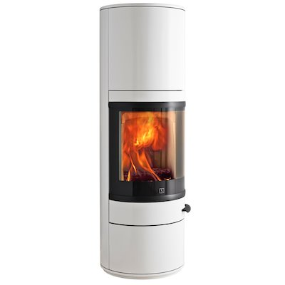 Scan 83 Maxi Wood Stove White Black Trim
