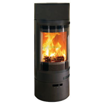 Scan 85 LL Wood Stove Black Black Trim