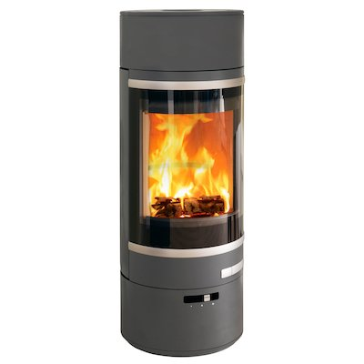 Scan 85 LL Wood Stove Grey Silver Trim