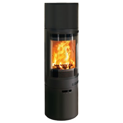 Scan 85 Maxi HH Wood Stove Black Black Trim