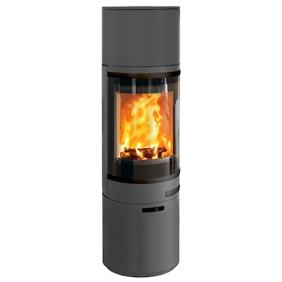 Scan 85 Maxi HH Wood Stove Grey Black Trim