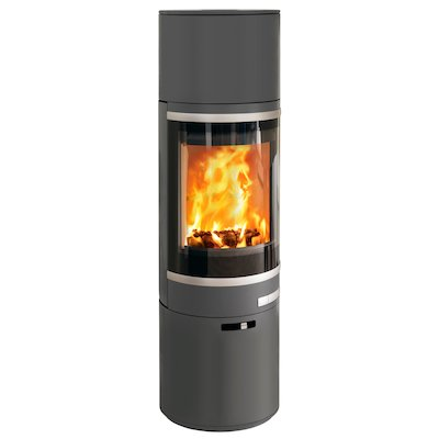 Scan 85 Maxi HH Wood Stove Grey Silver Trim