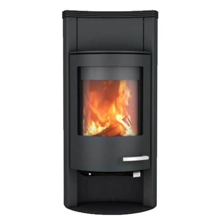 Skantherm Beo Wood Stove Black Concave Top - Black