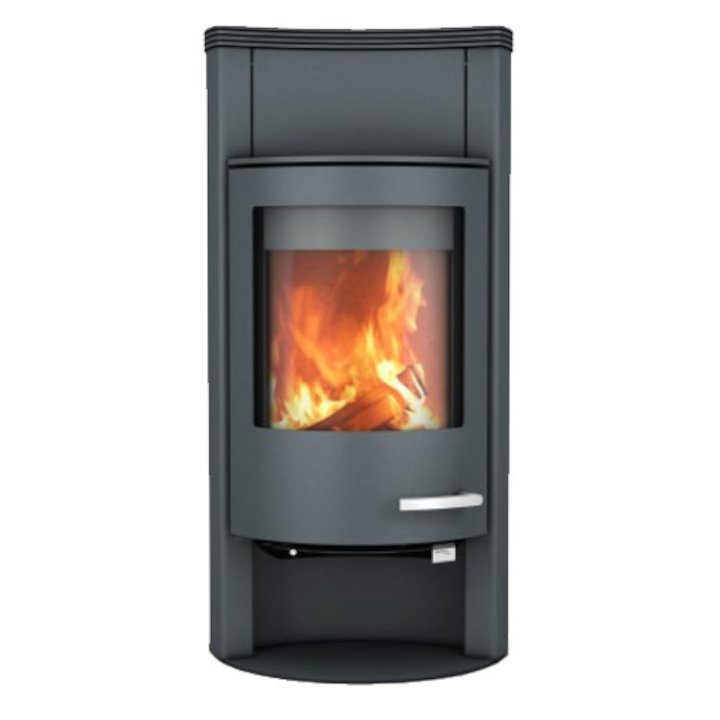 Skantherm Beo Wood Stove Grey Concave Top - Grey