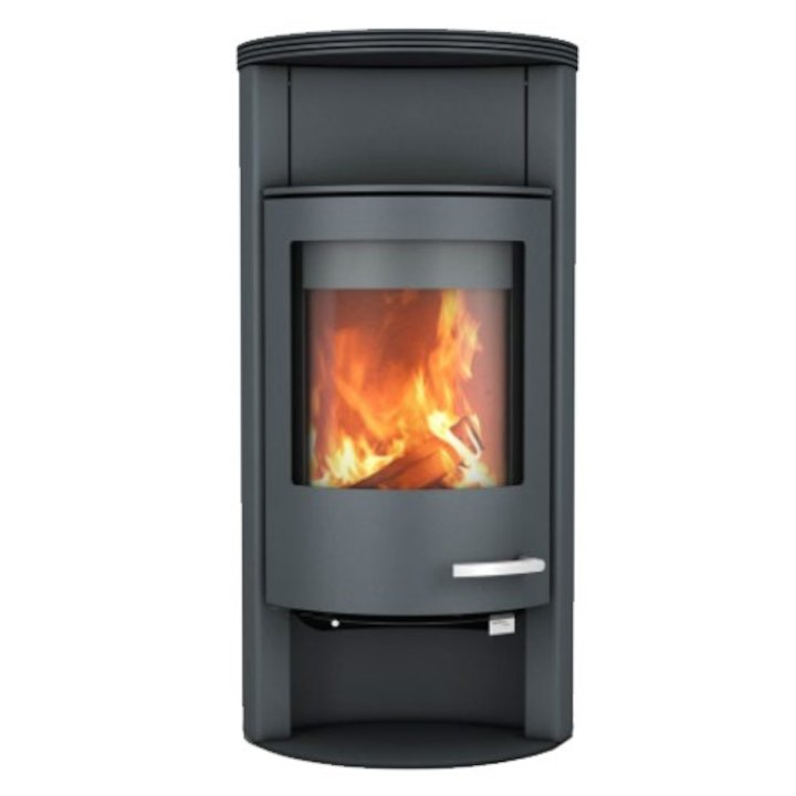 Skantherm Beo Wood Stove Grey Round Top - Grey
