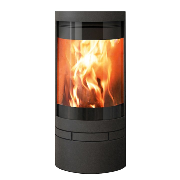 Skantherm Elements Round Wood Stove - Black
