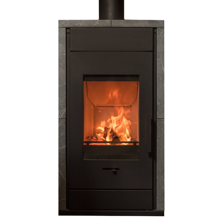 Wanders Pecan Eco Small Wood Stove - Black