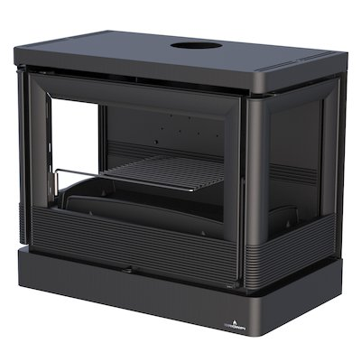 Bronpi Versalles Wall Mounted Wood Stove - Side Glass