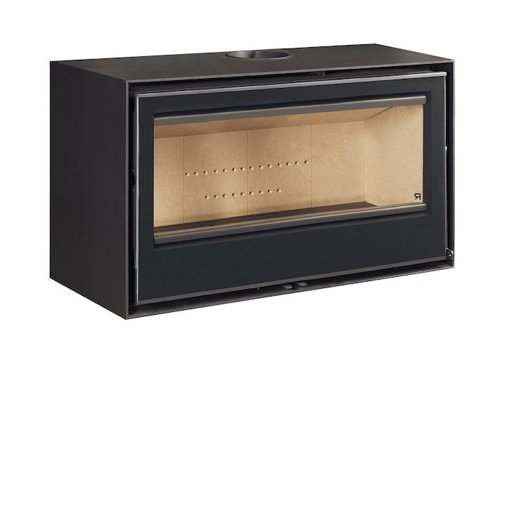 Rocal Habit 100 Wall Mounted Wood Stove - Black