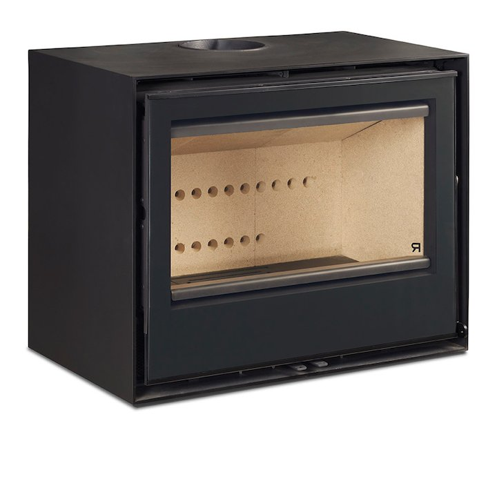 Rocal Habit 70A Wall Mounted Wood Stove - Black