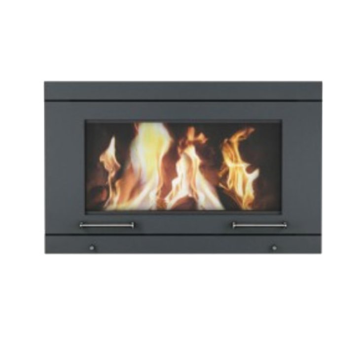 Skantherm Balance Wall Mounted Wood Stove - Black
