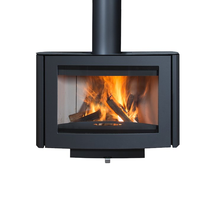 Wanders Ruby Wall Mounted Wood Stove - Black