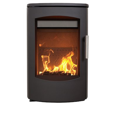 Heta Scanline 7C Wall Mounted Multifuel Stove Black Steel Top Plate