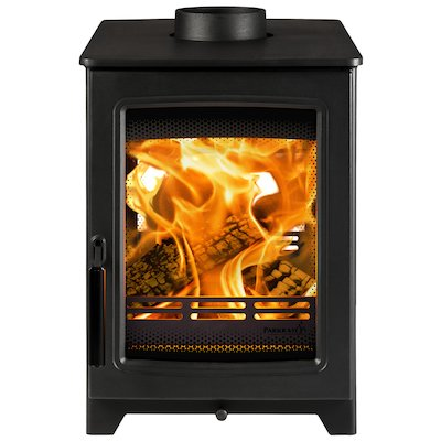 Parkray Aspect 4 Double Sided Wood Stove - Double Depth Black Black Handles