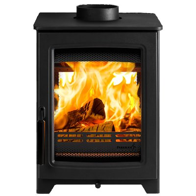 Parkray Aspect 4 Double Sided Wood Stove Black Black Handles