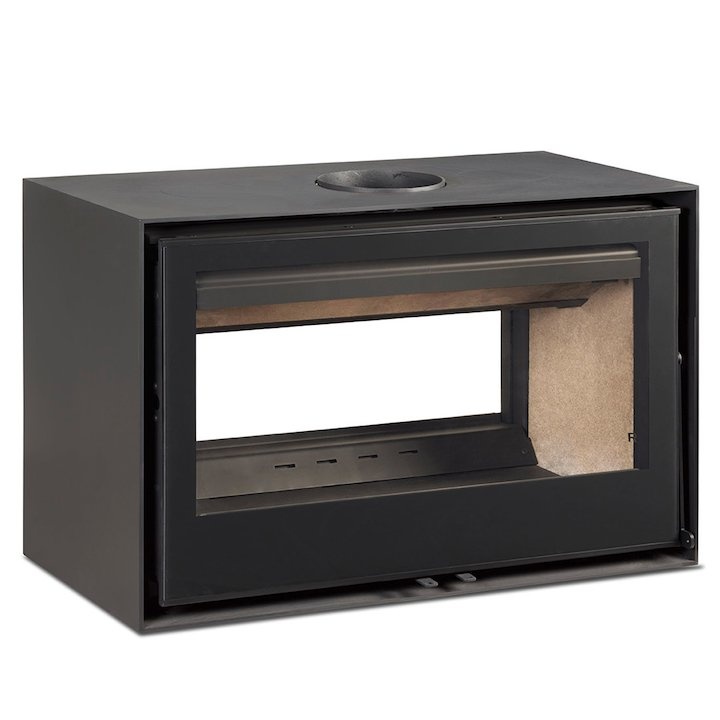 Rocal Habit 100 DC Double Sided Wood Stove - Black