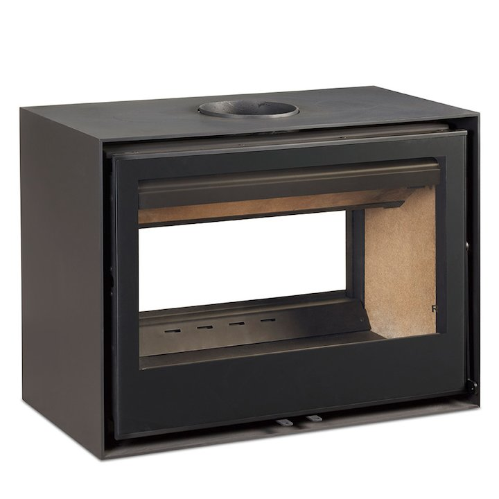 Rocal Habit 80 DC Double Sided Wood Stove - Black