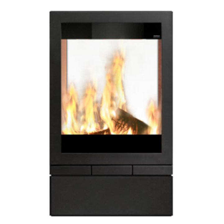 Skantherm Elements 603 Double Sided Wood Stove - Black