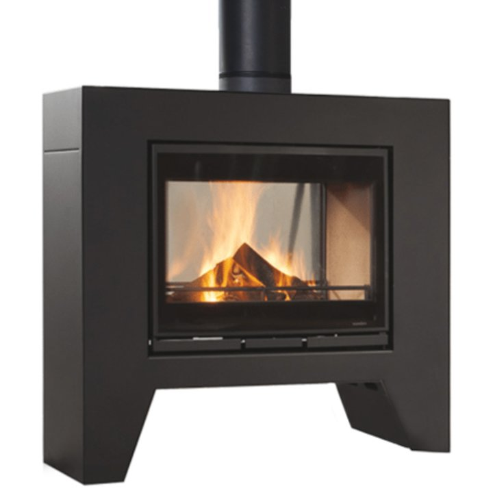 Wanders Jules Double Sided Wood Stove - Grey