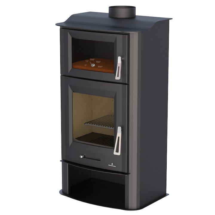 Bronpi Tudela Wood Stove - With Oven - Black