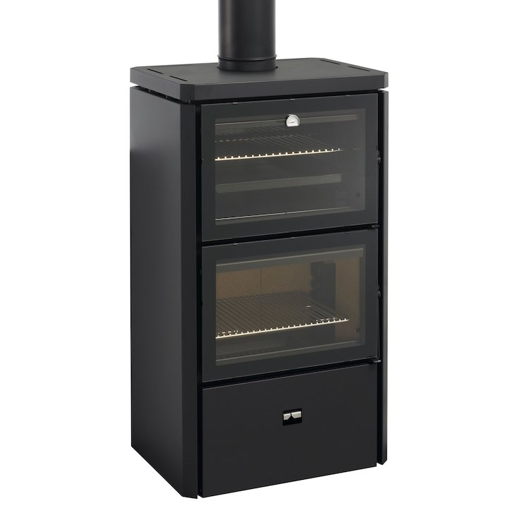Rocal Hebar Wood Cooking Stove - With Oven - Black