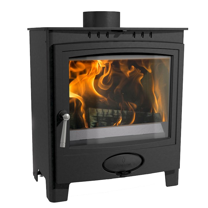 Arada Ecoburn Plus 5 Wide Multifuel Stove - Midnight Black