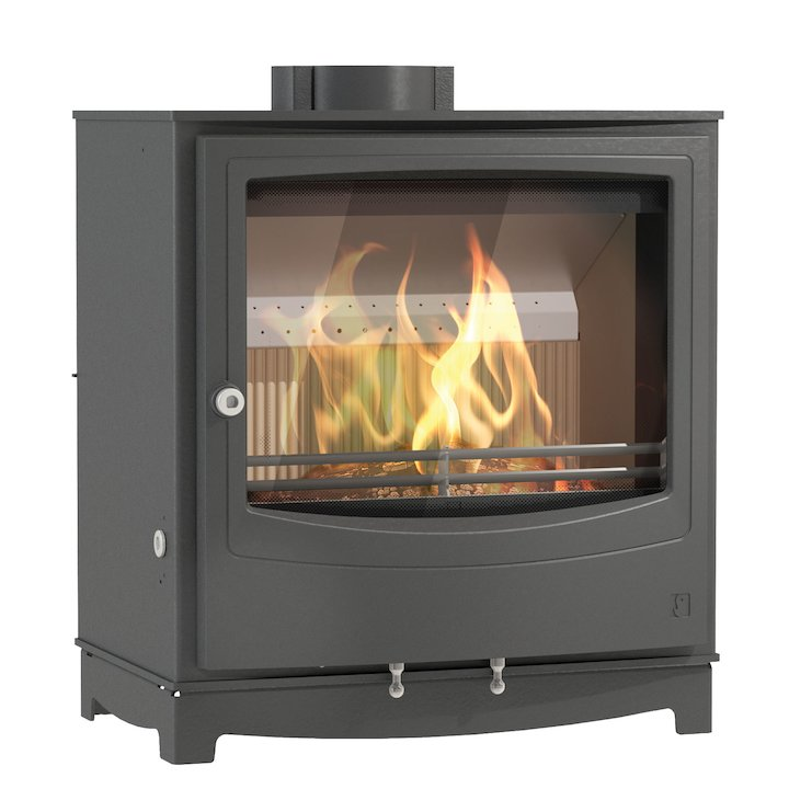 Arada Farringdon Large Multifuel Stove - Midnight Black