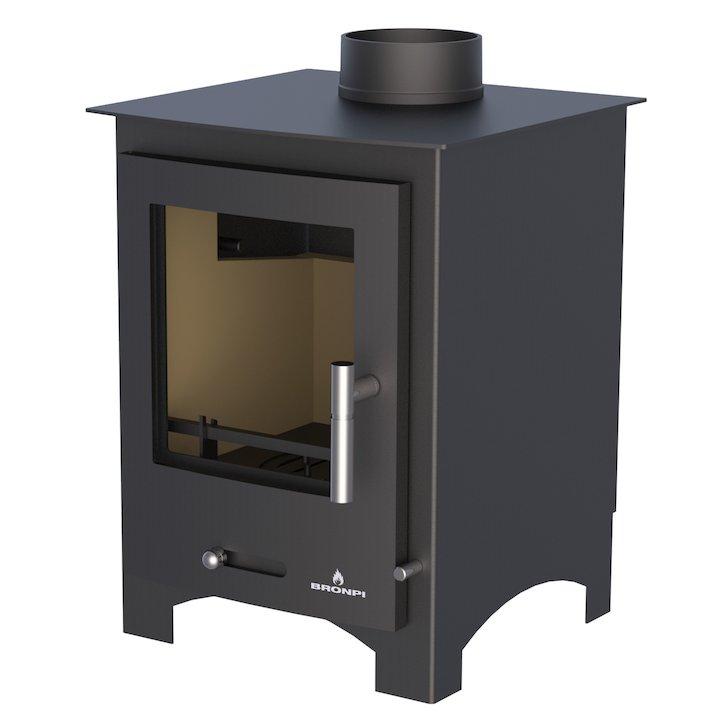 Bronpi Oxford Multifuel Stove - Black