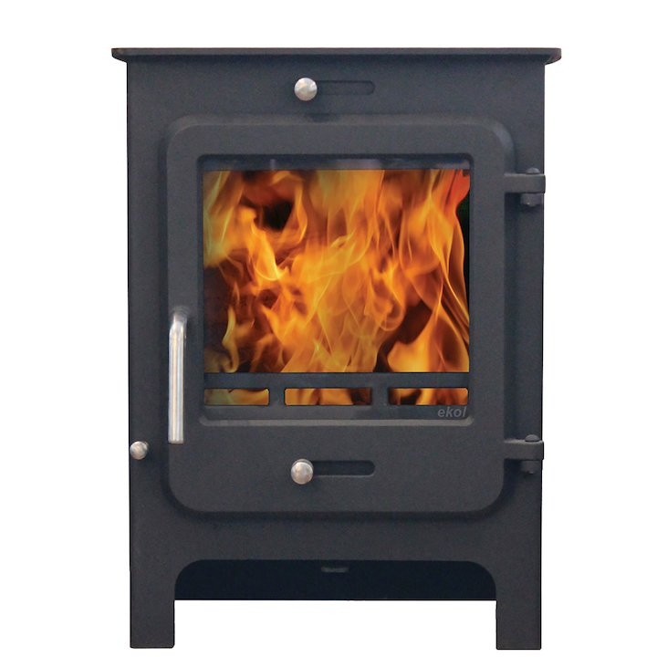 Ekol Clarity 8 Multifuel Stove - Black