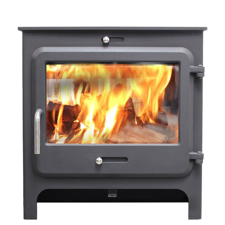 Ekol Clarity Vision Wide Multifuel Stove - Black