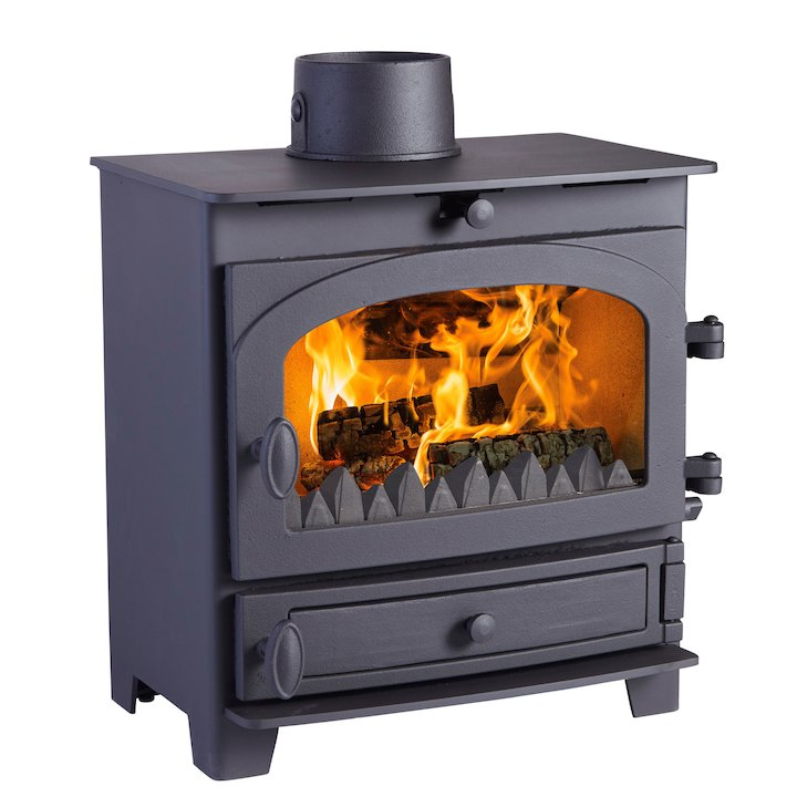 Hunter Kestrel 5 Multifuel Stove - Black