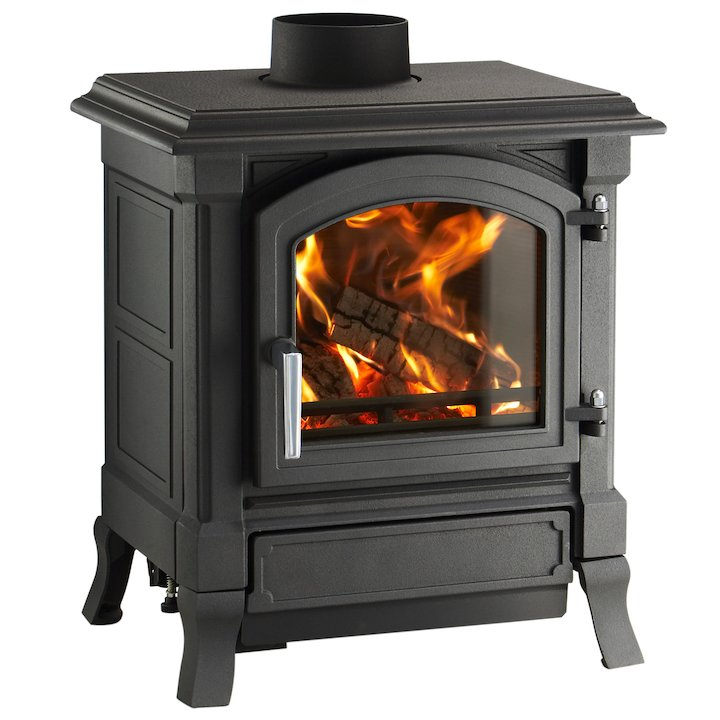 Nestor Martin Harmony 13 Multifuel Stove Black Satin Nickel Handle - Black