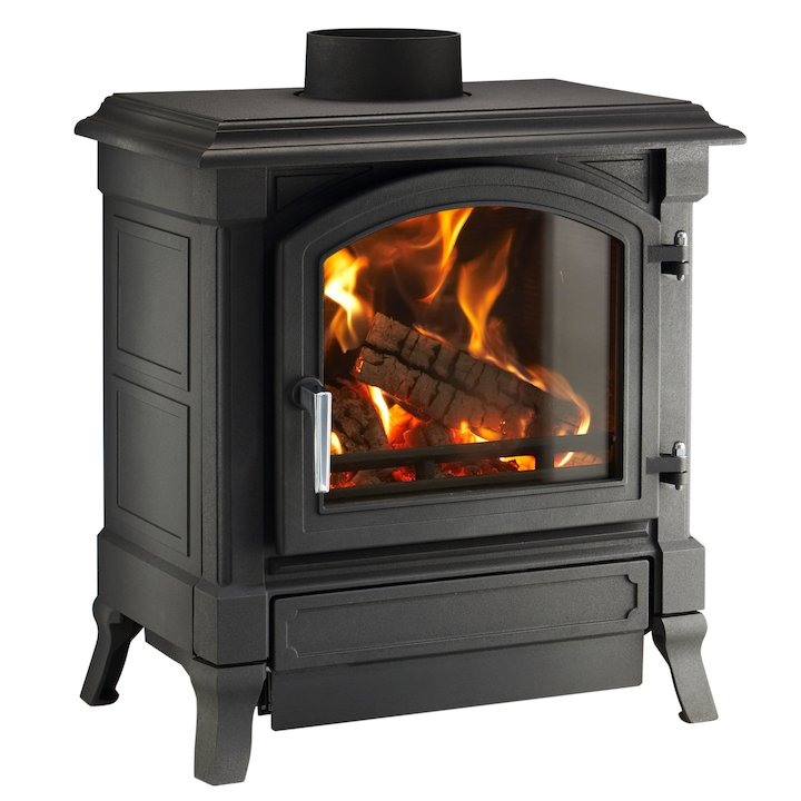 Nestor Martin Harmony 23 Multifuel Stove Black Satin Nickel Handle - Black