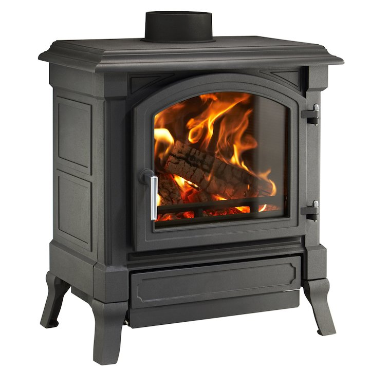 Nestor Martin Harmony 33 Multifuel Stove Black Satin Nickel Handle - Black