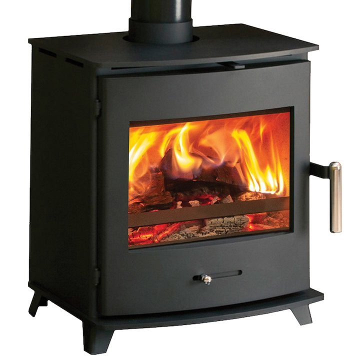 Pevex Newbourne 40FS Multifuel Stove Black Solid Sides - Black