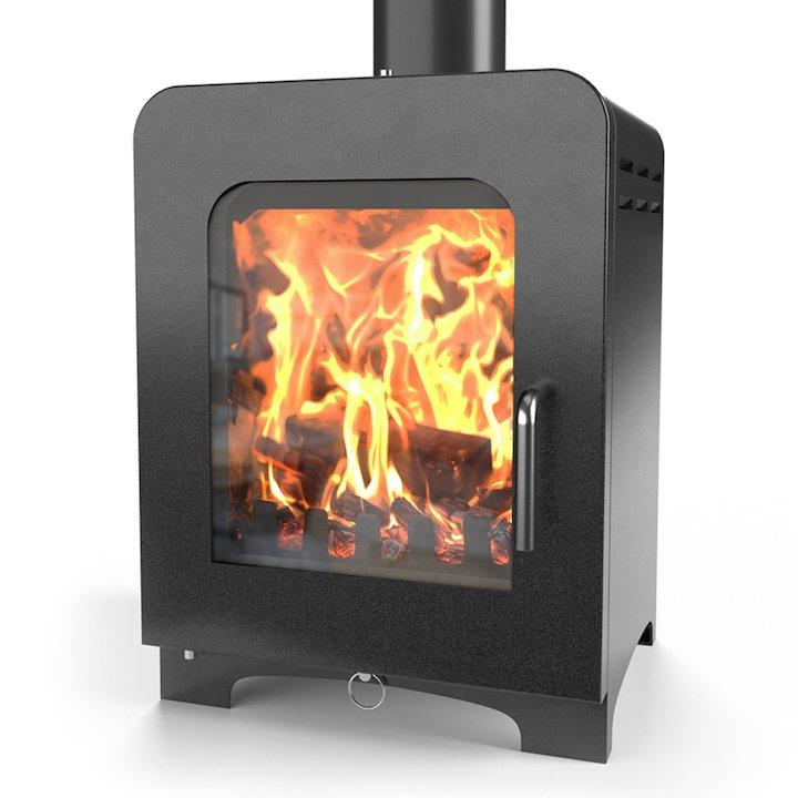 Saltfire ST2 Multifuel Stove - Metallic Black